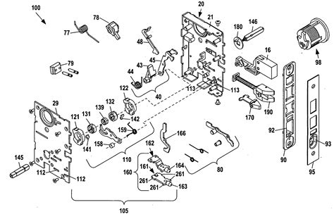 baldwin mortise lock diagram patent us20100263418 mortise lock assembly