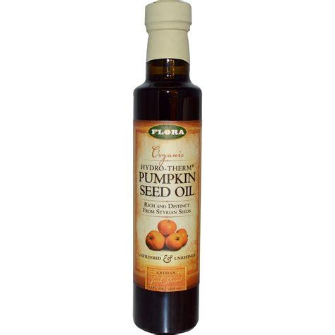 Flora, Organic Hydro Therm Pumpkin Seed Oil, 8.5 fl oz (250 ml)   iHerb.com