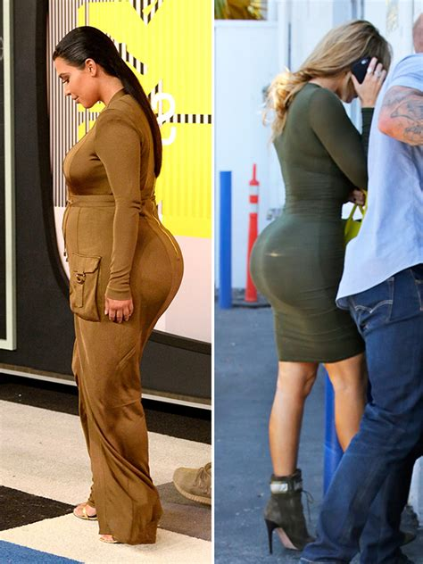kardashian sisters butt implant photos did kim khloe kylie khloe v kim kardashian butt battle bigger in