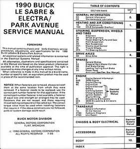 Buick Lesabre Repair Manual 1990 Buick Lesabre Electra Park Avenue Repair Shop