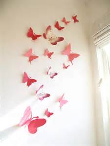 Butterfly Wall Decor by 15 3d Paper Butterflies 3d Butterfly Wall By