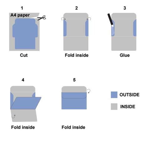 How To Fold A Paper Envelope - my printable gift april 2014
