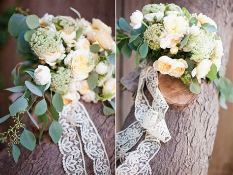 Wedding Bouquet Lace by Ivory Wedding Bouquet With Lace Ribbon Tie