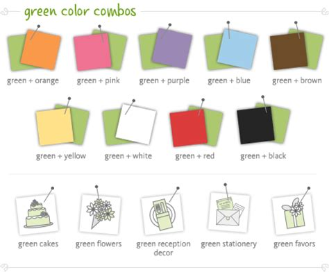 what colour goes with green wedding colors green ideas elevage events
