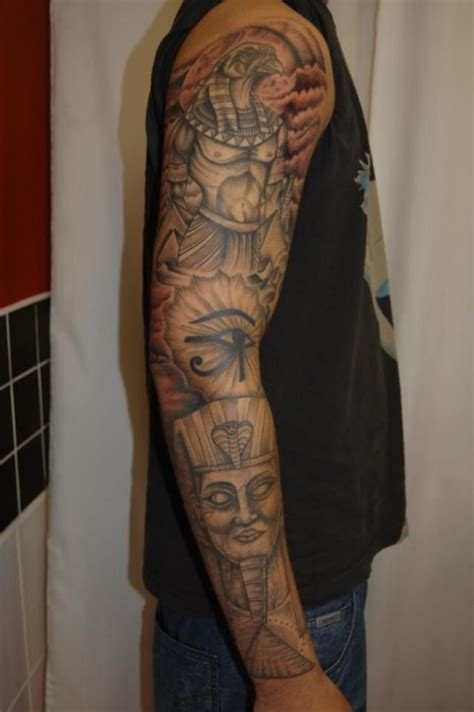 egyptian sleeve tattoo almost 100 tattoos that will your mind