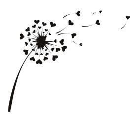 Brown Flower Wall Sticker Transparant dandelion blowing drawing transparent