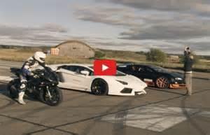Lamborghini Vs Motorcycle Bmw Bike Vs Bugatti Veyron Vitesse Vs Lamborghini