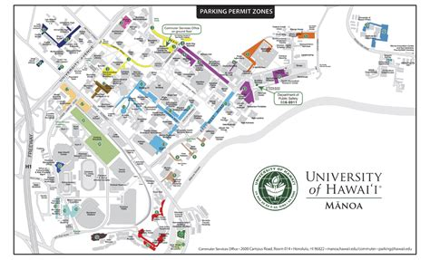 uh manoa map uh manoa parking maps