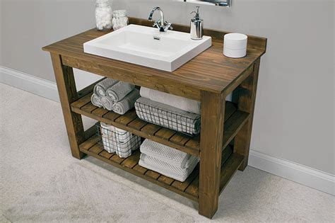 Bathroom Sink Cabinet Plans Creative Diy Bathroom Vanity Projects The Budget Decorator