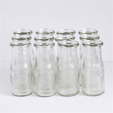 Bathroom Apothecary Jar Ideas by Small Glass Milk Bottles Traditional By Bake It Pretty