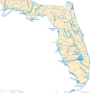 where is river florida on a map map of florida lakes streams and rivers