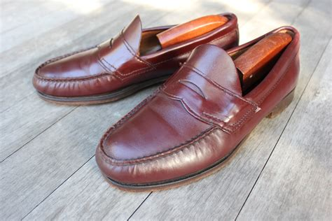 vintage loafers vintage bass weejuns loafers cordovan by stylestash