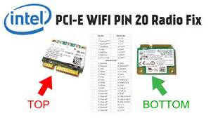 how to fix intel 5100 5300 mini pcie wlan wifi radio on issue covering pin 20