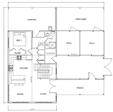 House Barn Combo Plans by Western Classic Barn House Yes Barns