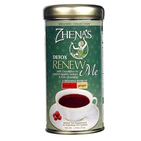 Renew Detox Tea by Zhena S Tea Wellness Tea Cranberry Detox