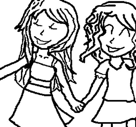coloring page of shaking hands girls shaking hands coloring page coloringcrew com