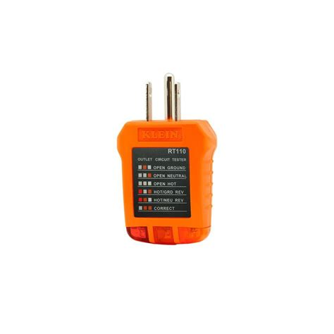 Home Depot Electrical Tester by Receptacle Tester Rt110 Klein Tools For Professionals Since 1857