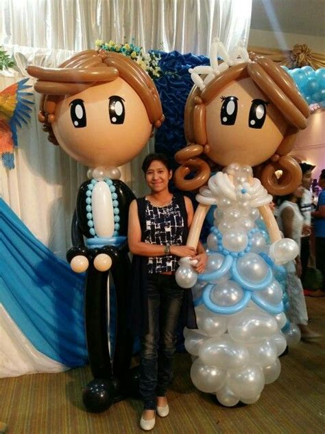 Balon Wedding Groom balloon wedding large and groom sculptures