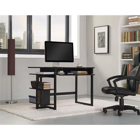 bell o computer desk bell o flagler computer desk in black od8453 45 pb01 the