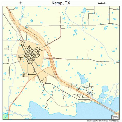 where is kemp texas on a map kemp texas map 4838788