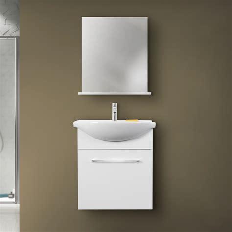 lavabo con mobile per bagno mobile bagno sospeso moderno 60 cm silky salvaspazio con
