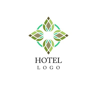 free hotel logo design vector fashion hotel floral logo inspiration download