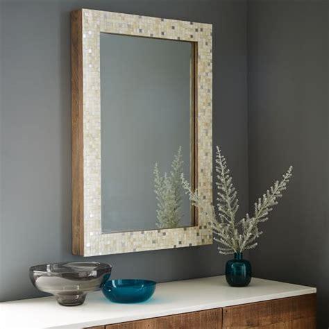 Patchwork Mirror - parsons wall mirror metallic patchwork west elm