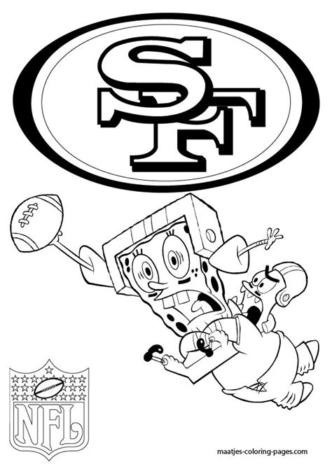 more san francisco 49ers coloring pages on maatjes