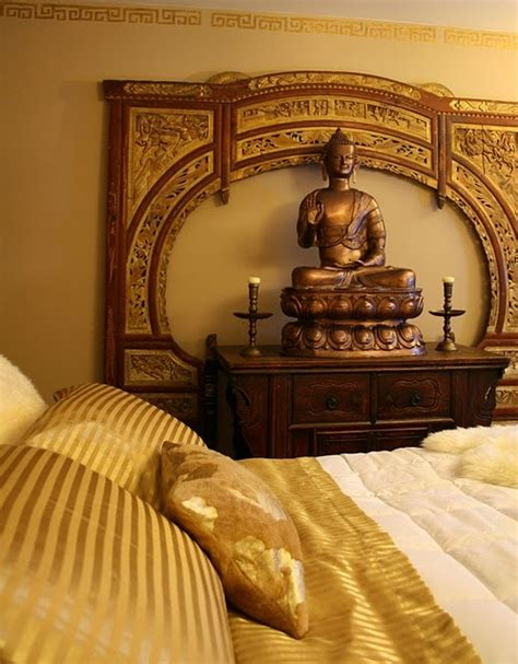 buddhist bedroom asian style gold bedroom buddha asian decor designs