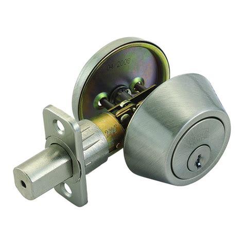 design house deadbolt design house 740423 single cylinder deadbolt deadbolts