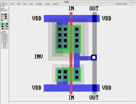 vlsi cmos layout sle cmos inv l edit layout