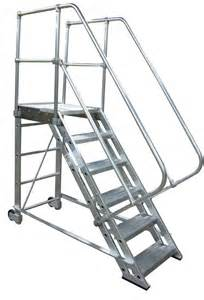Rolling Stair by Rolling Aluminum Stairs Metallic Ladder Manufacturing Corp