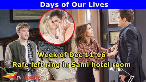 youtube days of our lives days of our lives spoilers week of december 11 16 youtube