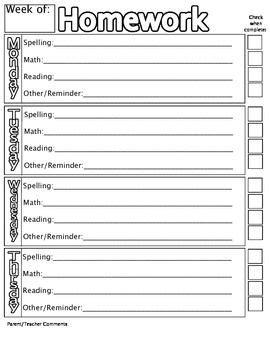 homework reading log template 25 best ideas about homework checklist on