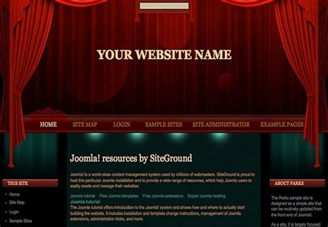 theater template theatre joomla green theme template