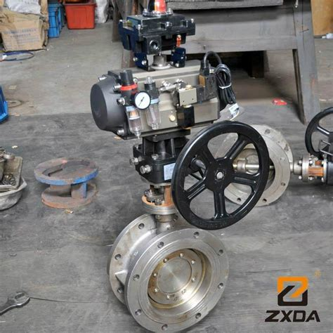metal seated valve manufacturers pneumatic offset metal seated butterfly valve on