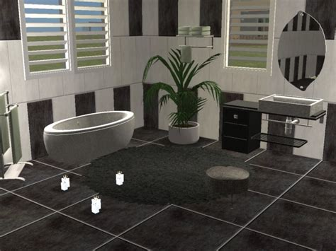 Sims 2 Bathroom by Mod The Sims Bathroom Quot Marcel Quot In Black