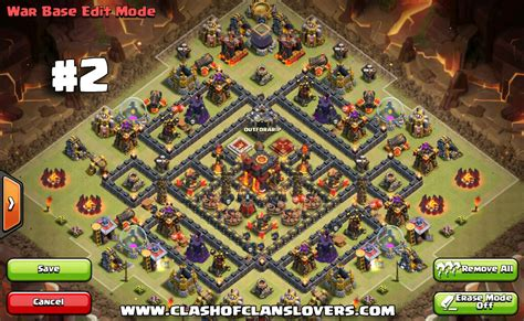 defensive war base for th10 50 th10 undefeated war farming trophy hybrid bases 2017