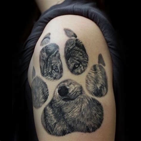 50 loup paw tattoo designs for men id 233 es d encre d