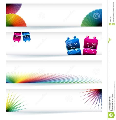 design banner computer multicolor gamut banner design stock vector image 18408191