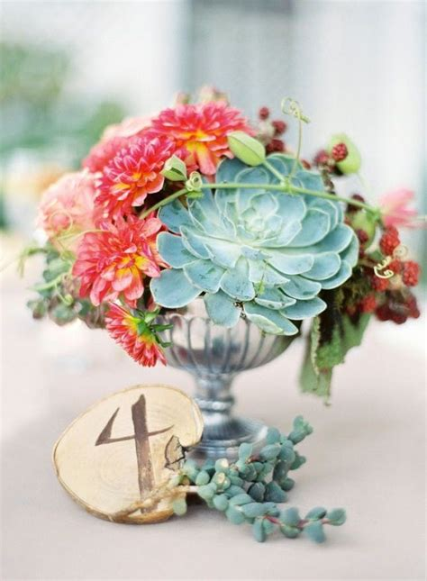 42 Creative Ways To Use Succulents In Your Wedding Brit Co Succulent Wedding Centerpiece