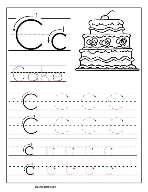 printable tracing letters for preschoolers printable letter c tracing worksheets for