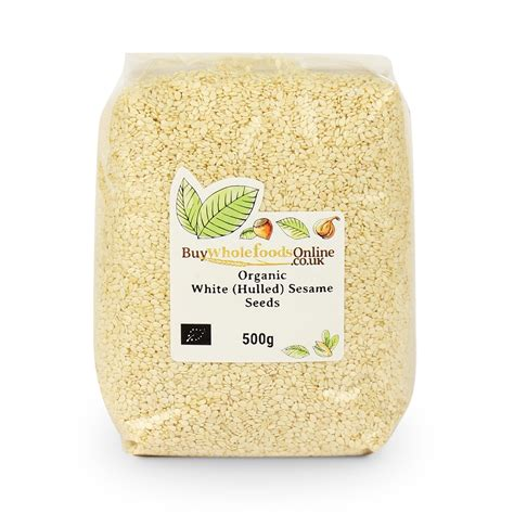 White Sesame Seeds 500g organic hulled sesame seeds