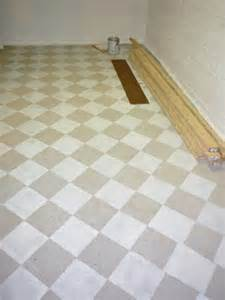 how to paint a cement basement floor checkerboard painted concrete basement floor in new craft