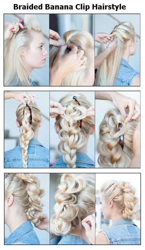 hair done up in a banana clip braided banana clip hair style pictures photos and