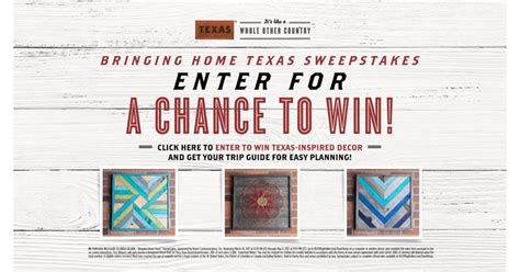 Hgtvmagonline Sweepstakes - hgtv bringing home texas sweepstakes how to prizes more
