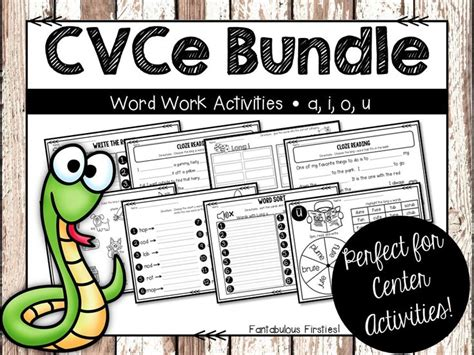 cvce pattern activities long vowel word work activities bundle cvce pattern