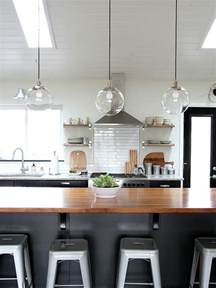 Glass Pendant Lights For Kitchen Island An Easy Trick For Keeping Light Fixtures Sparkling Clean