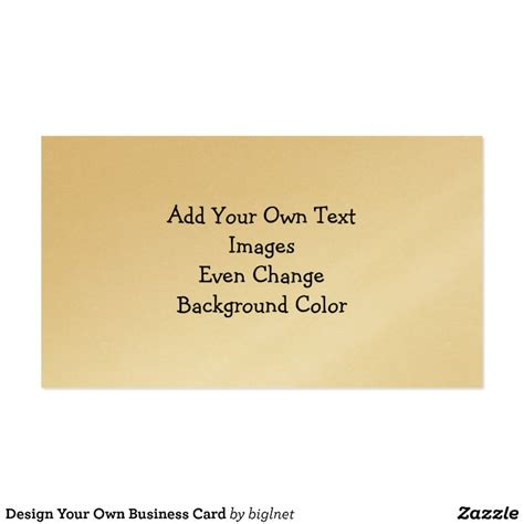 Design Your Own by Design Your Own Business Card Zazzle