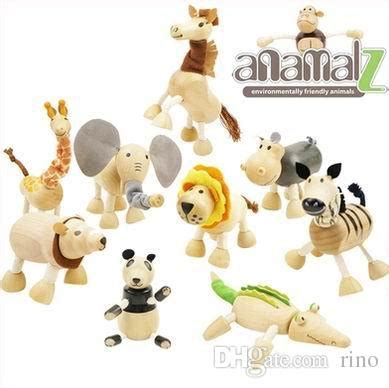 Handmade Wooden Toys Australia - cheap baby moveable maple wooden animals toys